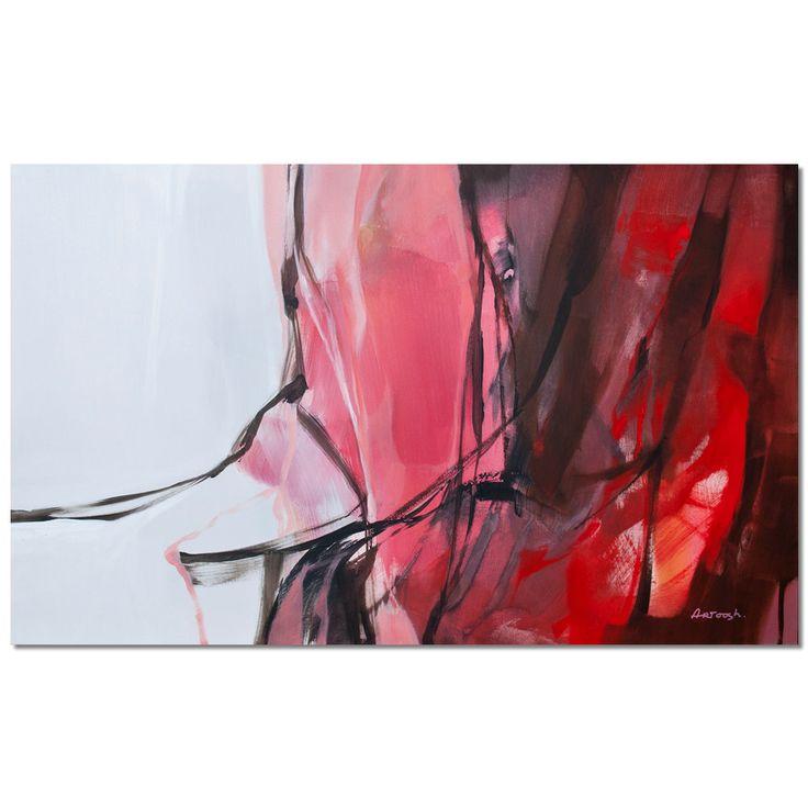 Peinture abstraite Rose blanche peinture moderne. par Artoosh