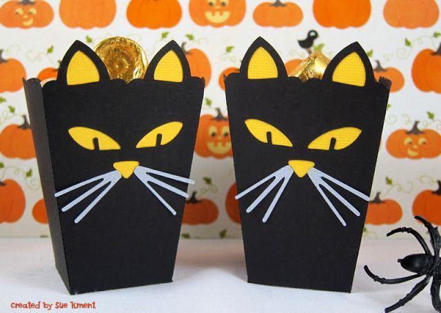 Halloween Treat Holder #17 Black Cat Popcorn Box designed by Sweet Afton #94536 Geeze...this...