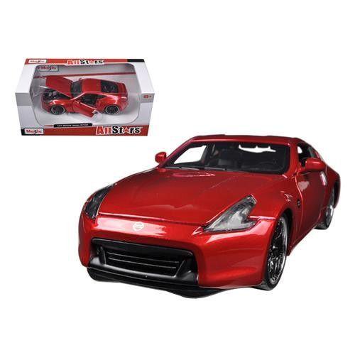 2009 Nissan 370Z Metallic Red 1/24 Diecast Car Model by Maisto
