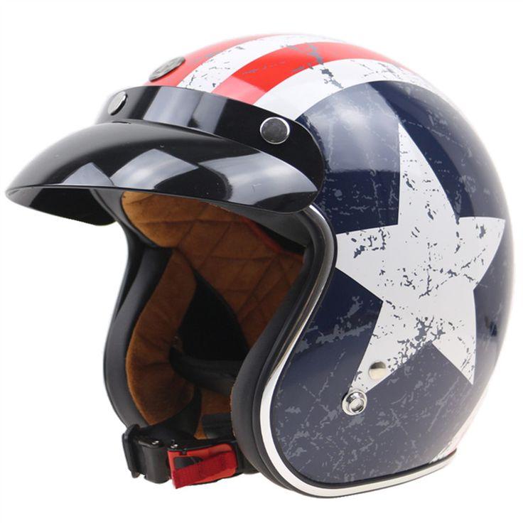 sale america capatain style motorbike helmet 34 open face motorcycle helmet novelty helmet #novelty #motorcycle #helmets