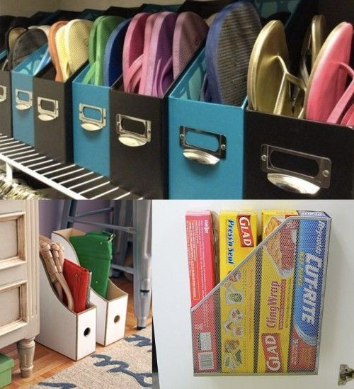 Some great organizing ideas that I haven't seen before.  Check out the bungee box for stuffed animal storage!
