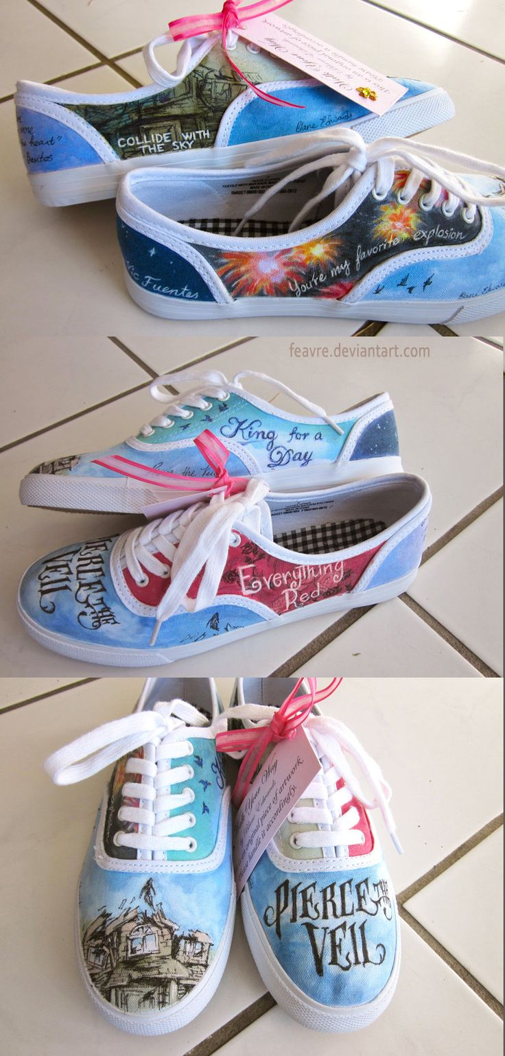 Pierce The Veil shoes.... I would never wear them, just stare at them