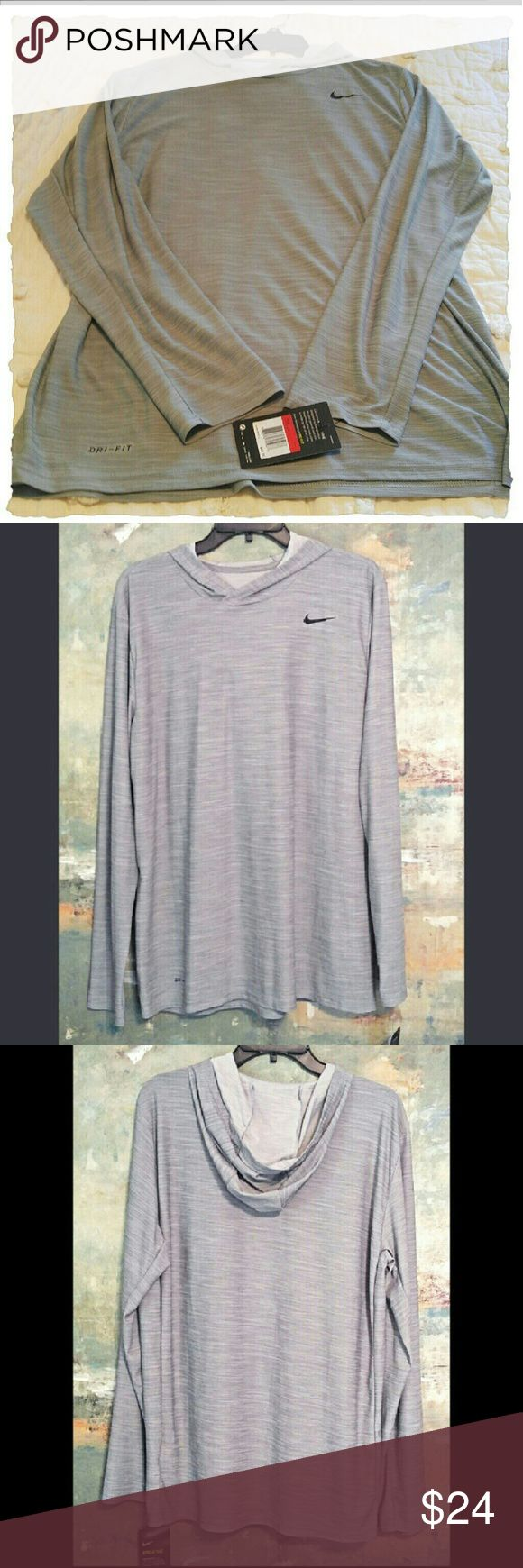 🆕🎉Men's Nike Dri Fit Hoodie Silky, breathable roomy size small men's. Nice grey feathered colour.  🎉FIRM PRICE unless bundled🎉Retails at $45🎉Ships within 24 hours🎉💕😃🎄 Nike Shirts Sweatshirts & Hoodies