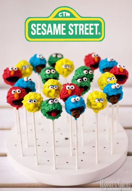 Sesame Street Cake Pops amazing sesame street cakes | Sesame Street Cupcakes | Flickr - Photo Sharing!  girl boys unisex party birthday elmo monster cookie