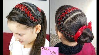 Resultado de imagen para peinados para colegio faciles