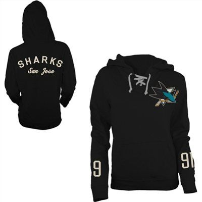 Old Time Hockey San Jose Sharks Women's Queensboro Lace-Up Hooded Sweatshirt