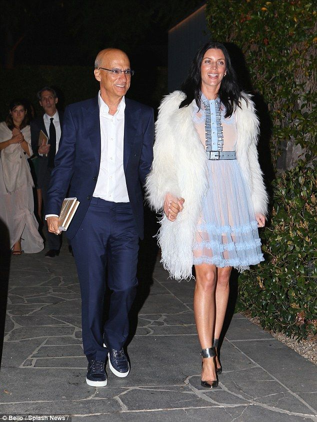 Wedding fever: Newlyweds Jimmy Iovine, 62, and Liberty Ross, 37, stepped out as man and wife to celebrate the nuptials between film producer Brian Grazer, 64, and Veronica Smiley in Santa Monica