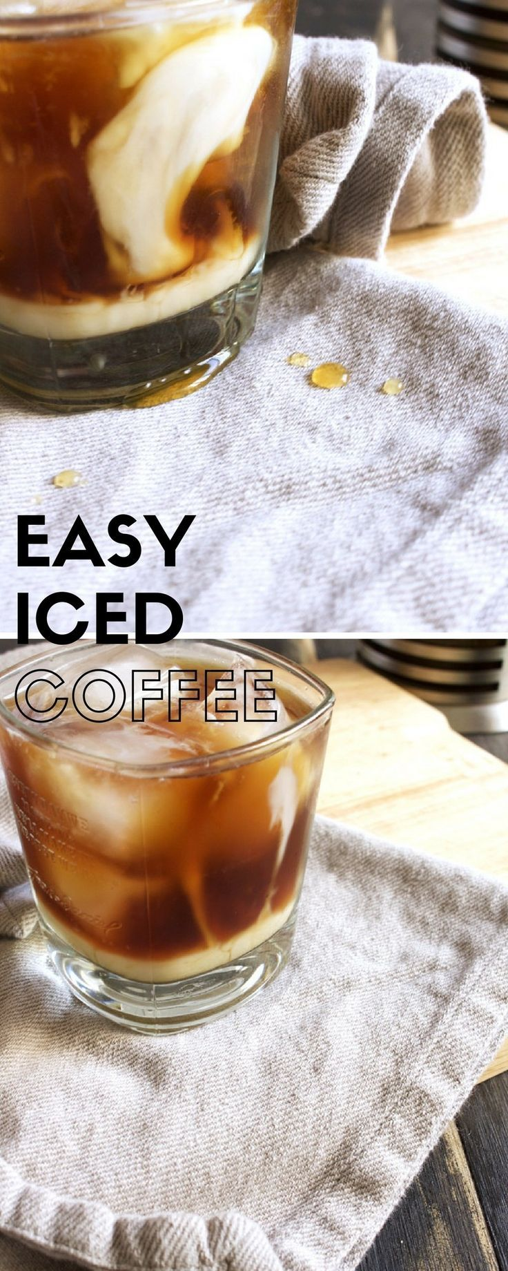 Easy Iced Coffee Recipe! This is the easiest recipe for a homemade iced coffee. It's straightforward and a super way to start a hot summer day – Brokefoodies.com