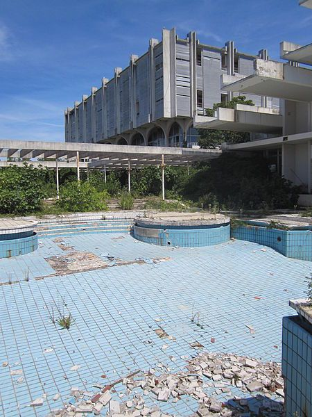 Abandoned pool at the Haludovo Palace Hotel, Malinska, Krk, Croatia, opened in 1972 and closed in the early 1990's.