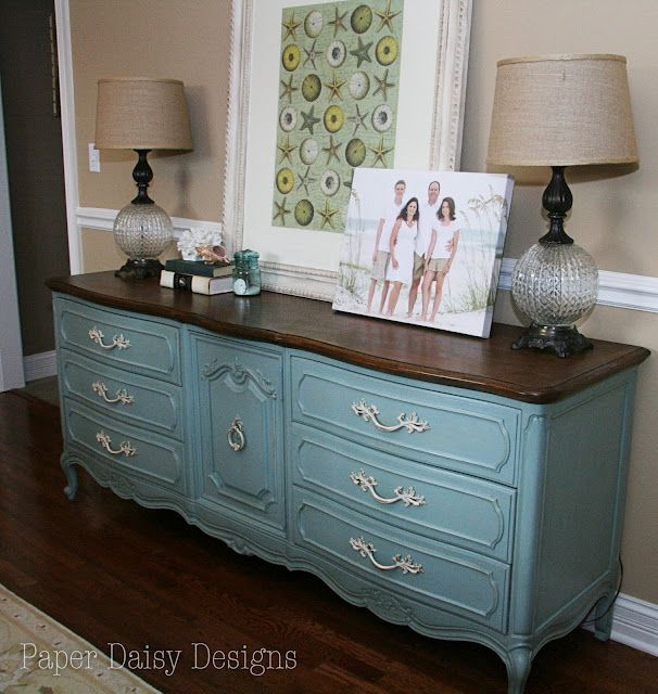 Annie Sloan Duck Egg Blue Dresser Buffet