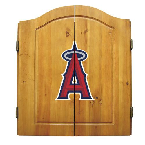 Los Angeles Angels MLB Dart Board w/Cabinet
