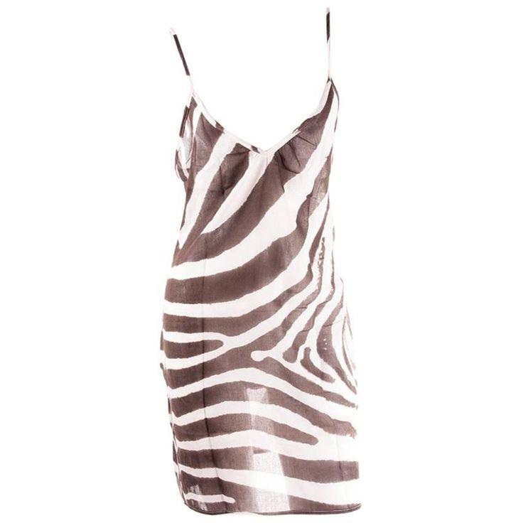 Dolce and Gabbana Sheer Zebra Print Dress   1stdibs.com