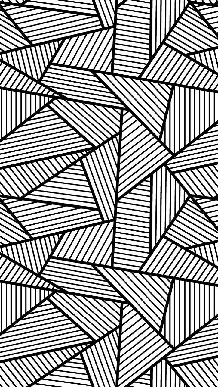 Free coloring pages of zebra stripes - Free Coloring Page Coloring Adult Triangles Traits Anti Stress Coloring Page With Big Triangles Tangled And Striped Free