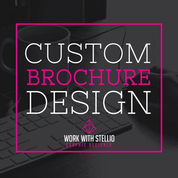 Custom Brochure Design brochure advertise by workwithstellio