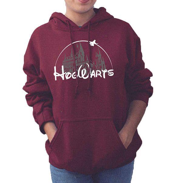 Harry Potter Disney kasteel Zweinstein wens naar College Hoodie volwassenen Unisex Top