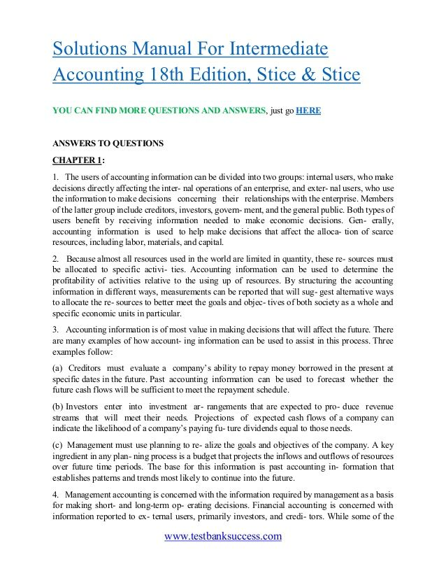 intermediate accounting 18th edition solution rh pinterest co uk