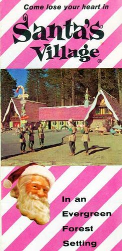 Santa's Village Brochure   1960s ad