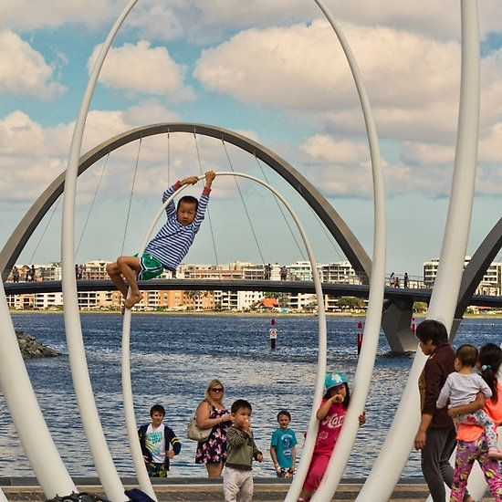 Having Fun at Elizabeth Quay, Perth, Western Australia
