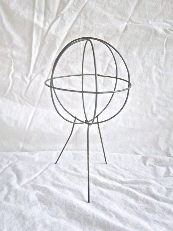 Vintage Wire Child's Hat Display Stand Vintage Millenary