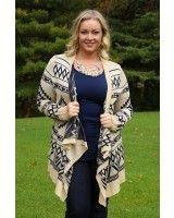 Aztec Amazes Cardigan - Curvy - boutique with nice options for curvy women (size 12 and up.)