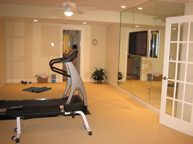 13 best workout room ideas images on pinterest exercise for Small home workout room