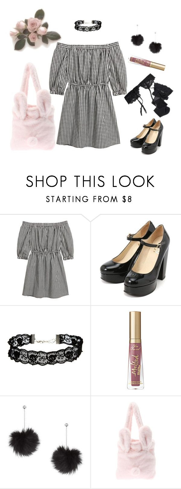 """""""Sweet gingham"""" by sweetpasteldream ❤ liked on Polyvore featuring ASOS, Topshop, Reger by Janet Reger, kawaii, gingham, jfashion, Larme and larmekei"""