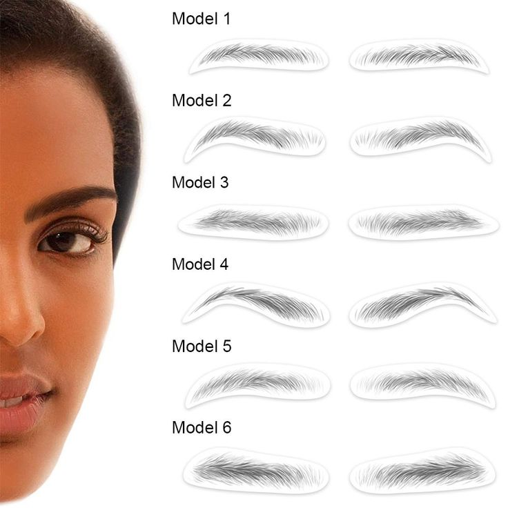 4d hairlike authentic eyebrows temporary eyebrow tattoos