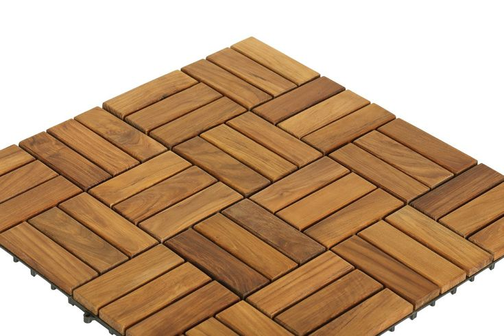 "EZ-Floor Wood 12"" x 12"" Interlocking Flooring Tile Trim in Teak"