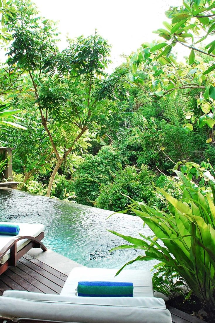 The all-villa Gending Kedis is a private hideaway in the lush gorges of Jimbaran Bay. #Jetsetter