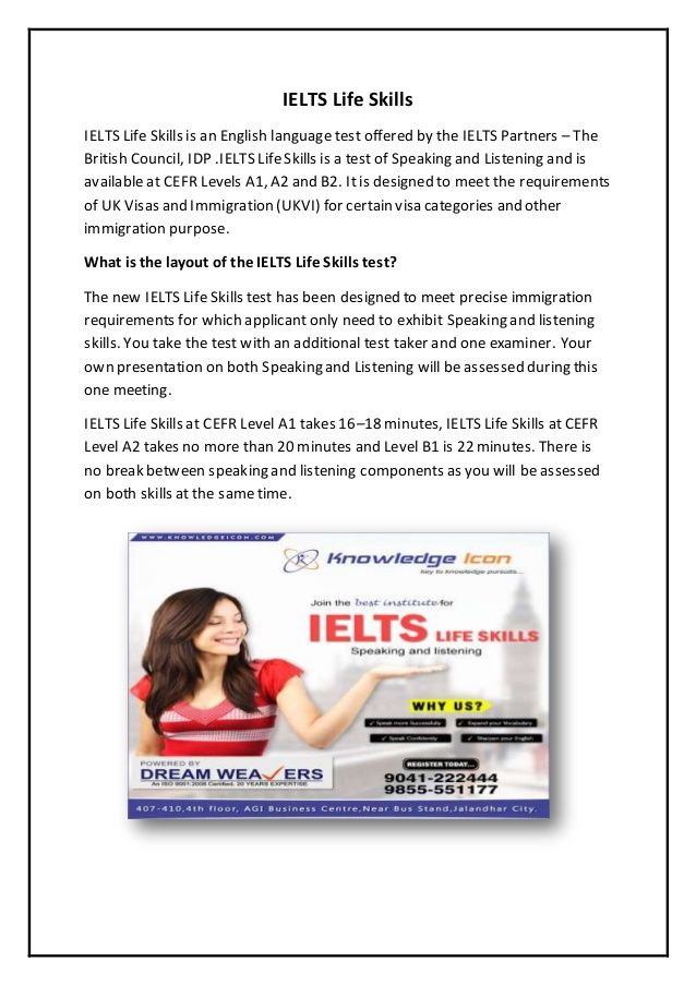 Knowledge Icon provides excellent IELTS Life Skills coaching