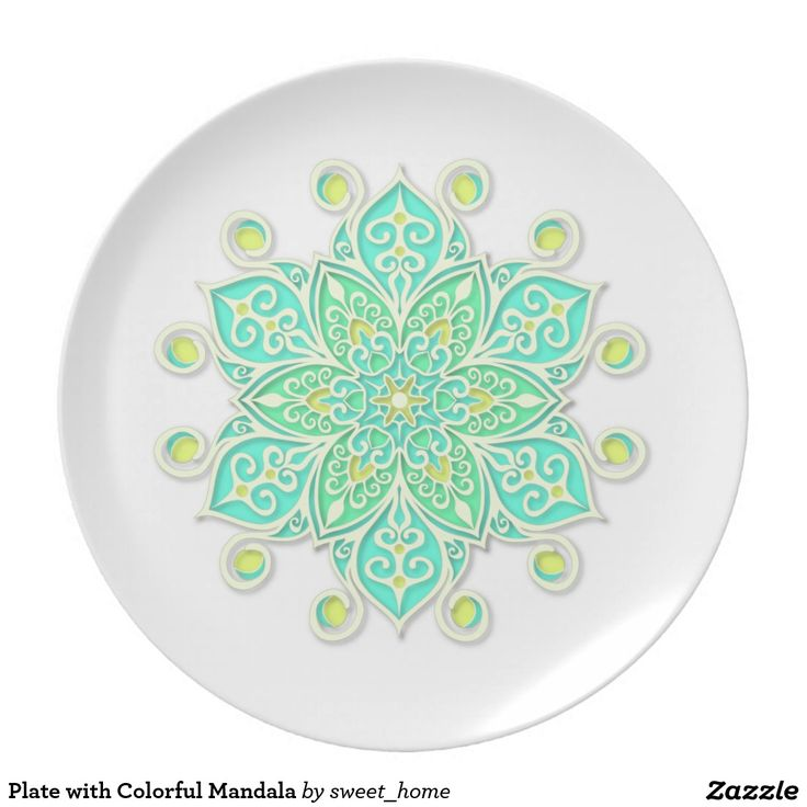 Plate with Colorful Mandala #Homedecor #Room #accessories #Interior #decorating #Idea #Styles #Home