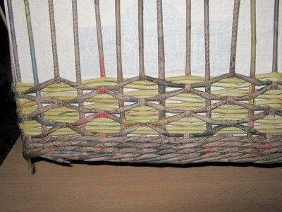 Vlnková vazba :: Moje pletení z papíru Hanča Čápule