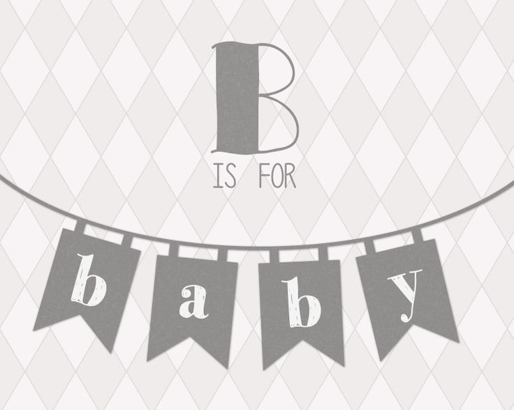 Baby printable grey // typography