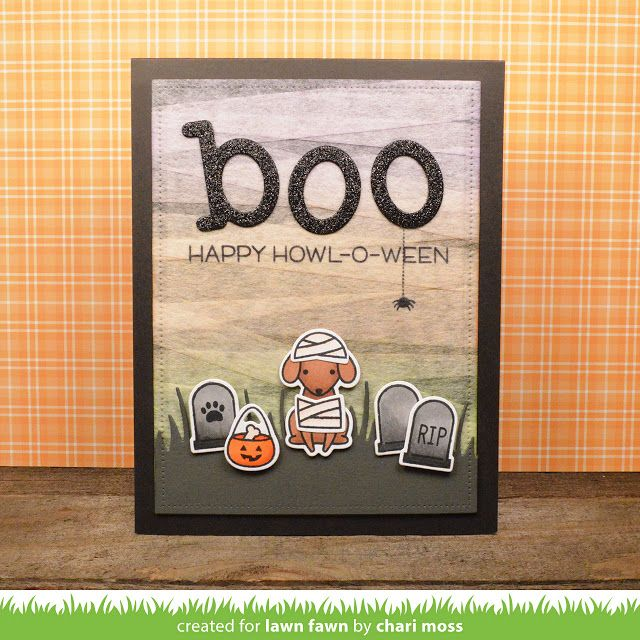 Lawn Fawn Video {10.6.16} A Mummy Howl-o-ween Card by Chari