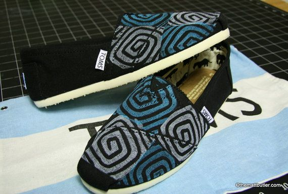 Spiral TOMS shoes by themattbutler on Etsy, $73.00