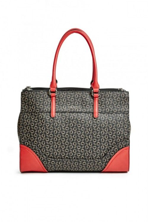 GUESS Paradis Logo-Print Carryall - natural multi č.1