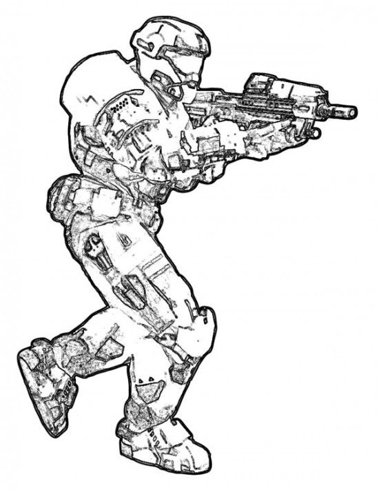 Printable Halo Coloring Pages For Kids / All About Free