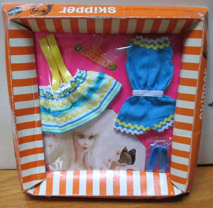 "1970 RARE JAPAN ""SKIPPER"" FASHION~NEW inBOX~*RIK RAK RAH*~COMPLETE MINT~1733~6pc #Mattel #ClothingShoes"