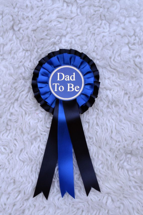 Dad To Be Ribbon . Dad To Be Pin . Dad To Be by AphroditeApparel