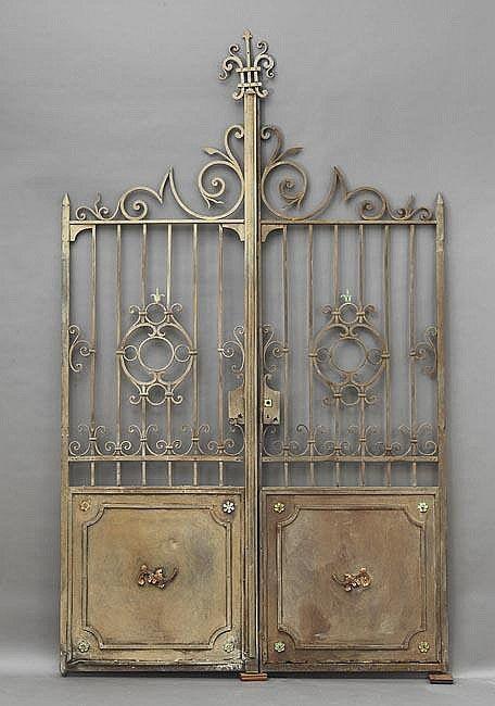 French Wrought Iron Garden Gates