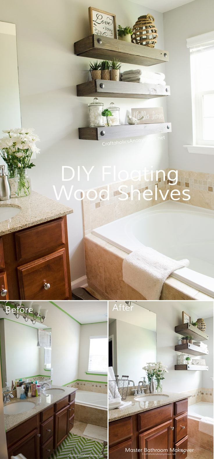 56 best decorate bathrooms images on pinterest bathroom ideas diy floating shelves