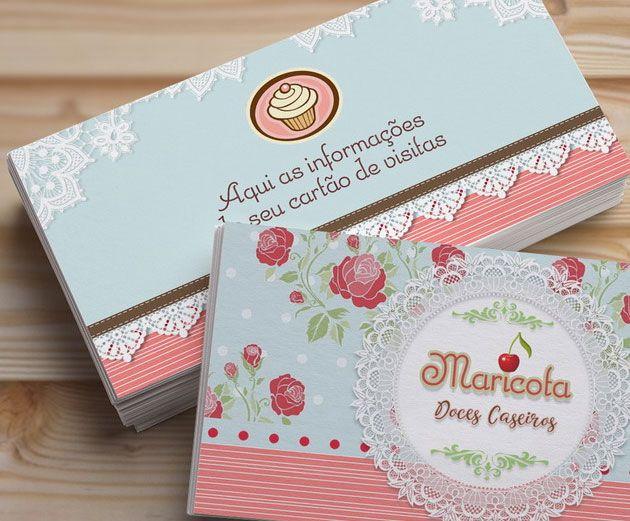 Resultado de imagem para cartão de visita doces gourmet