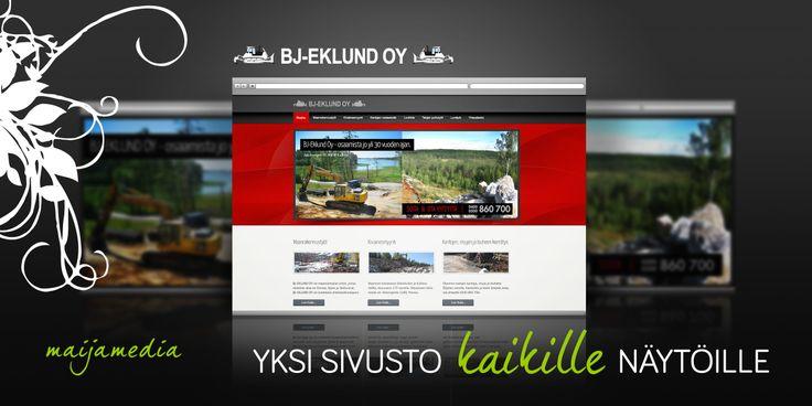Business Website Design by Maijamedia.com. Responsive site for BJ-EKLUND OY: http://www.bj-eklund.fi