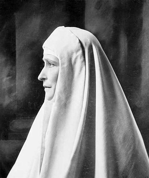 Ella - GRAND DUCHESS ELIZAVETA FEODOROVNA - older sister of Alexandra - as a nun. After he husband Grand Duke Serge was assassinated the childless Ella became a nun.