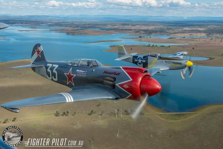 Fighter Pilot P-51D Mustang and Yak-3 Steadfast. Photography by Mark Greenmantle Photography.