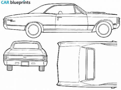 1967 chevrolet chevelle ss396 coupe blueprint