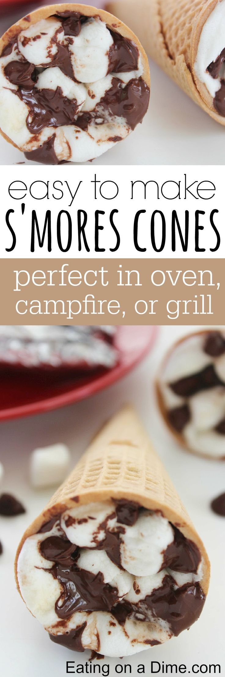 You just have to try these S'Mores Campfire Cones  with the family. They will love them. I love it because you can make it in the oven, on the campfire or on the grill.