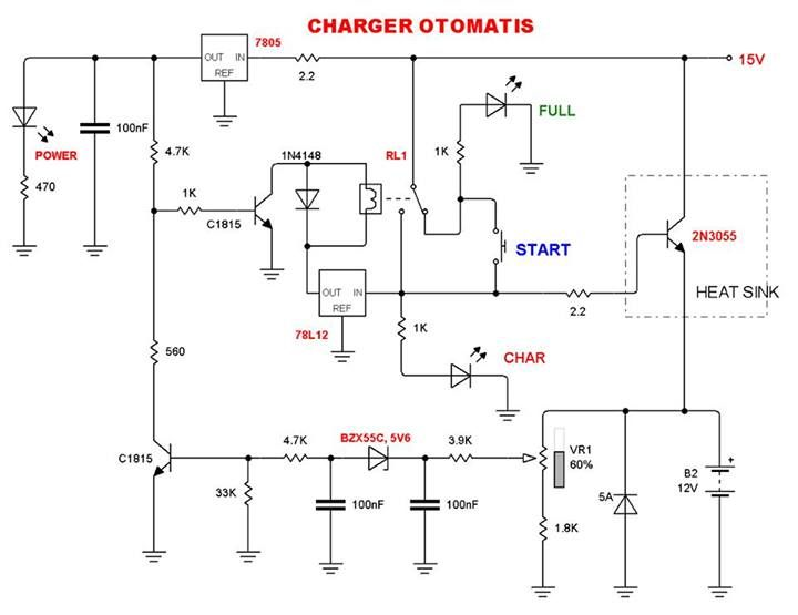 Automatic Battery Charger Circuit 2 Automatic Battery Charger Battery Charger Circuit Battery Charger