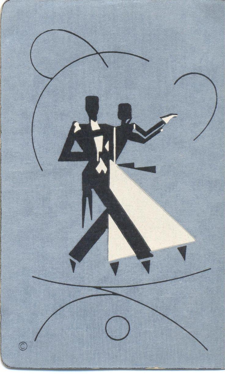 vintage playing card dance deco - Поиск в Google