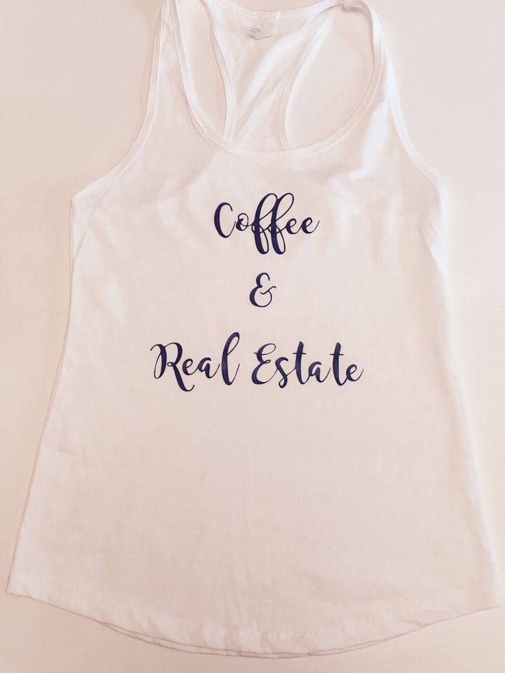 Coffee and Real Estate Gym Tank | Real Estate Agent | Closing gift | Thank you gift | Promotional marketing | Tank Top | Gym Tank by Realestatemarket on Etsy https://www.etsy.com/listing/583594149/coffee-and-real-estate-gym-tank-real
